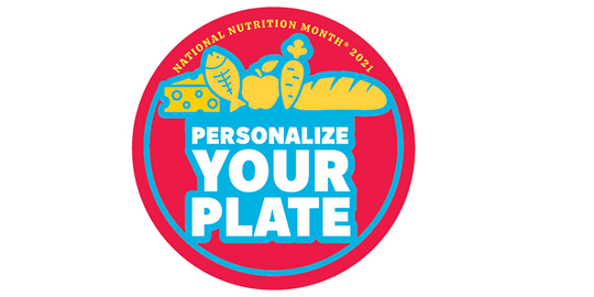 National Nutrition Logo - red circle with Personalize your plate in blue